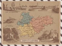 4AG1591 CHROMO HACHETTE Géographique + Vues Département TARN ET GARONNE MONTAUBAN BRUNIQUEL - Géographie