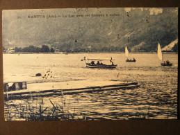 CPA Nantua (01) - Le Lac avec ses bateaux � voiles