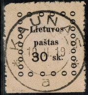 ~~~ Lithuania 1919 - Kaunas Issues - Mi. 16  (o) Used ~~~