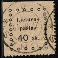 ~~~ Lithuania 1919 - Kaunas Issues - Mi. 17  (o) Used ~~~