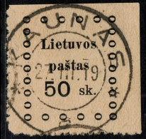 ~~~ Lithuania 1919 - Kaunas Issues - Mi. 18  (o) Used ~~~