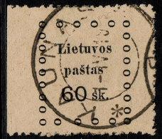 ~~~ Lithuania 1919 - Kaunas Issues - Mi. 19  (o) Used ~~~