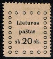 ~~~ Lithuania 1919 - Kaunas Issues - Mi. 22 * MH ~~~