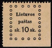 ~~~ Lithuania 1919 - Kaunas Issues - Mi. 20 * MH ~~~