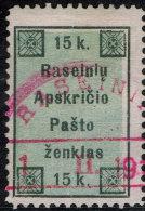~~~ Lithuania Raiseiniai Rossingen 1919 - Kadusinas Issues - Mi. 1 (o) Used ~~~
