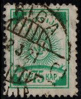 ~~~ Letland Latvia 1919 - Symbolics -  Perf 11½ - Mi. 14 A (o) Used - Cat. 14.00 Euro ~~~ - Letland