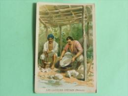 Carte Sur Les Laveurs D'Etain De MALACCA - Old Paper