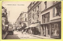 CPA MARNE 51 EPERNAY La Rue De Chalons Animée Commerces 1925 Timbrée Pasteur 15 C Vert - Epernay