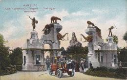 Allemagne -  Hamburg -  Stellingen - Carl Hagenbeck's Tierppark - Elephant Ours Indian - Postmarked 1910 - Stellingen