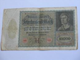 10 000 Zehntausend  Mark - 1922  Reichsbanknote - Germany - Allemagne **** EN ACHAT IMMEDIAT **** - 10 Mark