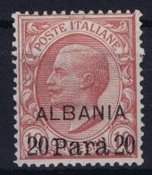 Italy: Levant Albania Sa Nr 8 MH/* - Buitenlandse Kantoren