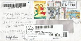 Mali 2013 Bamako Niarela 485f Presidents 5f Independence Anniversary Barcoded Registered Cover - Mali (1959-...)