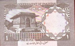 BILLETE PLANCHA PAKISTAN 1 Rupia 1983 - Pakistán