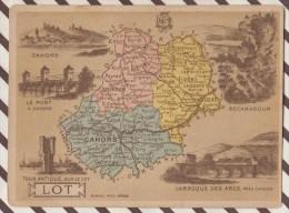 4AG1594 CHROMO HACHETTE Géographique + Vues Département LOT CAHORS ROCAMADOUR - Géographie