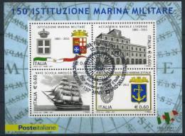"""2011 Italia, Foglietto """"Marina Militare"""" Con Annullo Ufficiale - 1946-.. République"""