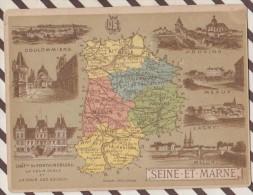 4AG1596 CHROMO HACHETTE Géographique + Vues Département SEINE ET MARNE COULOMMIERS PROVINS LAGNY - Géographie