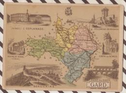 4AG1597 CHROMO HACHETTE Géographique + Vues Département  GARD NIMES VILLENEUVE LES AVIGNON - Géographie