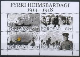 Faroe Islands 2014 WWI, World War I Centenary, Army, Ships, History - WO1