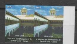 O) 2007 PERU, SANTA CLARA MONASTERY, CUSCO, IMPERFORATE MNH - Peru