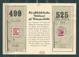 Fragment Met Twee Gehalveerde Zegels Met Stempel OSTENDE/LIEGE - Railway