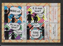 TOKELAU ISLANDS 2014 LANGUAGE WEEK M/S MNH