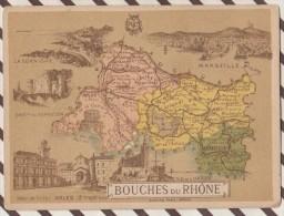 4AG1598CHROMO HACHETTE Géographique + Vues Département BOUCHES DU RHONE MARSEILLE ARLES TARASCON - Géographie