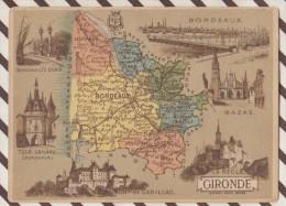 4AG1599 CHROMO HACHETTE Géographique + Vues Département GIRONDE BAZAS CADILLAC BORDEAUX - Géographie