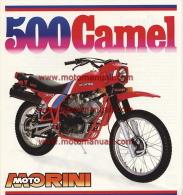Moto Morini 500 Camel Enduro Depliant Originale Genuine Factory Brochure Prospekt - Motorräder