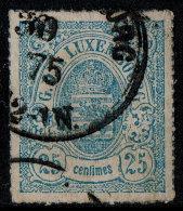 ~~~ Luxemburg 1865  - Coat Of Arms - Mi. 20 A (o) ~~~ - 1859-1880 Wapenschild