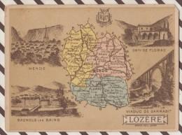 4AG1601 CHROMO HACHETTE Géographique + Vues Département LOZERE MENDE BAGNOLS FLORAC - Géographie