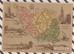 4AG1606 CHROMO HACHETTE Géographique + Vues Département VENDEE OLONNE LUCON NOIRMOUTIER - Géographie