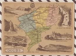 4AG1609 CHROMO HACHETTE Géographique + Vues Département DOUBS BESANCON PONTARLIER - Géographie