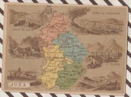 4AG1610 CHROMO HACHETTE Géographique + Vues Département JURA MOREZ ST CLAUDE DOLE GEX - Géographie