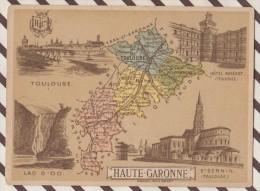 4AG1612 CHROMO HACHETTE Géographique + Vues Département HAUTE GARONNE ST SERNIN TOULOUS - Géographie