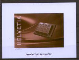 Schweiz - Vignetten-Block Aus Der Jahreszusammenstellung Von 2001 - Blocks & Kleinbögen