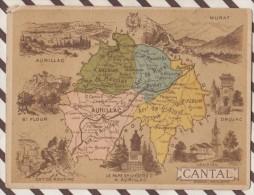 4AG1614 CHROMO HACHETTE Géographique + Vues Département CANTAL AURILLAC ST FLOUR MURAT - Géographie