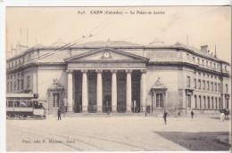 CPA 14 CAEN PALAIS DE JUSTICE TRAM - Caen