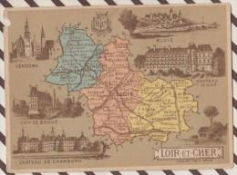4AG1616 CHROMO HACHETTE Géographique + Vues Département LOIR ET CHER BLOIS VENDOME - Géographie
