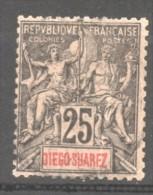 Diego Suarez   N° 45  Oblitéré   , Cote  12,00  Euros Au Quart De Cote - Diego-suarez (1890-1898)