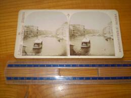 Photo : Vue Stéréoscopique : Venezia, Canal Grande Da Rialto ; C. Negri à Brescia ; Vedute Stereoscopiche. Venise - Stereoscopic