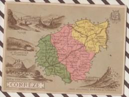 4AG1622 CHROMO HACHETTE Géographique + Vues Département CORREZE TULLE VENTADOUR - Géographie
