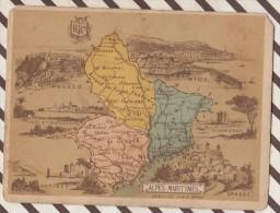 4AG1623 CHROMO HACHETTE Géographique + Vues Département  ALPES MARITIMES MONACO NICE GRASSE ANTIBES - Géographie