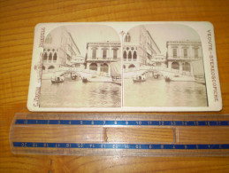Photo : Vue Stéréoscopique : Venezia,pont Des Soupirs,paglia, Sospiri ; C. Negri à Brescia;vedute Stereoscopiche.Venise - Stereoscopic