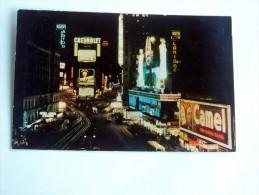 Carte Postale Ancienne : NEW YORK : Time Square , Pub Chevrolet, Camel - Time Square