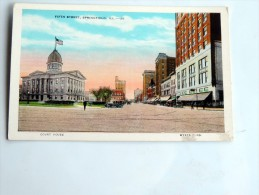 Carte Postale Ancienne : Fifth Street , SPRINGFIELD - Springfield – Illinois