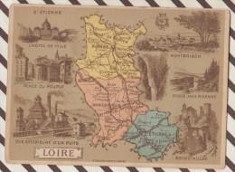 4AG1625 CHROMO HACHETTE Géographique + Vues Département  LOIRE MONRBRISSON ROANNE ST ETIENNE - Géographie
