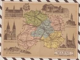 4AG1626 CHROMO HACHETTE Géographique + Vues Département  MARNE REIMS CHALONS STE MENEHOULD - Géographie