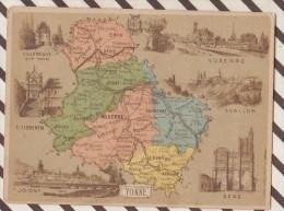 4AG1627 CHROMO HACHETTE Géographique + Vues Département YONNE AUXERRE AVALON ST FLORENTIN SENS - Géographie