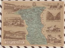 4AG1629 CHROMO HACHETTE Géographique + Vues Département  DEPARTEMENT D'ALGER LAGOUHA BLIDA  MOUZAIA - Géographie