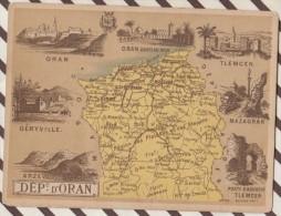 4AG1633 CHROMO HACHETTE Géographique + Vues Département  DEPARTEMENT D'ORAN GERYVILLE TLEMCEN MAZAGRAN - Géographie